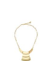 Robert Lee Morris - Shiny Gold Short Pendant Necklace