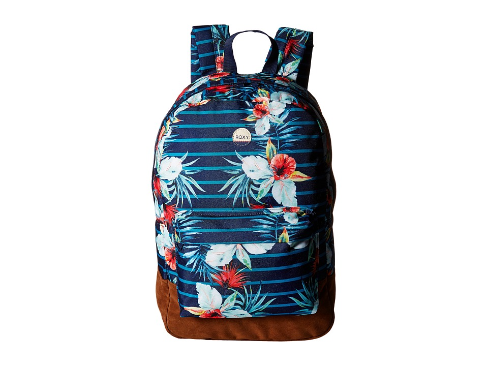 Roxy World Is New Backpack (Exotic Lines Combo Marine) Backpack Bags