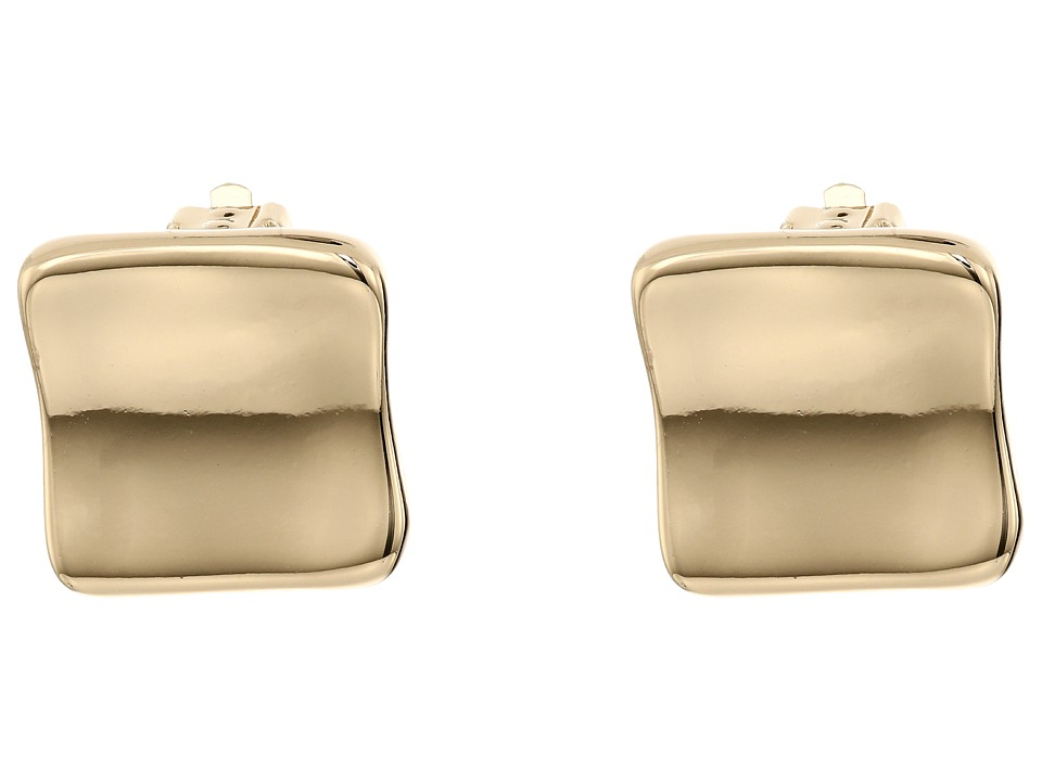 Robert Lee Morris - Gold Square Clip On Earrings (Shiny Gold) Earring