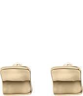 Robert Lee Morris - Gold Square Clip On Earrings
