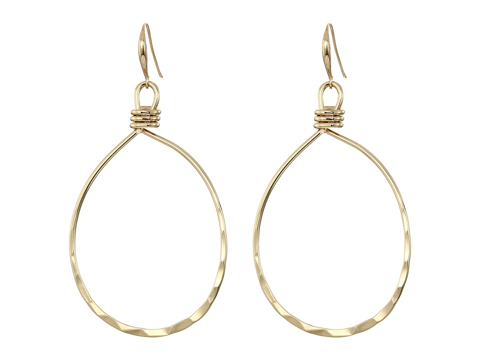 Robert Lee Morris - Shiny Gold Gypsy Hoop Earrings (Shiny Gold) Earring
