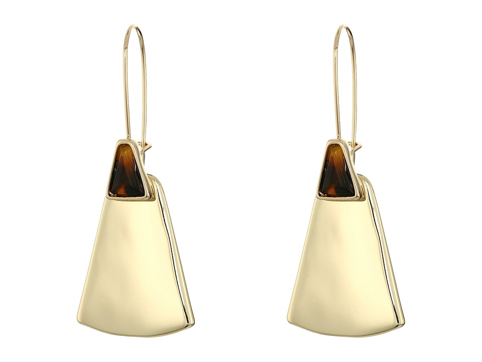 Robert Lee Morris - Tortoise Gold Shepherd Hook Earrings (Tortoise) Earring
