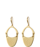 Robert Lee Morris - Gold Oval Hammered Drop Earrings