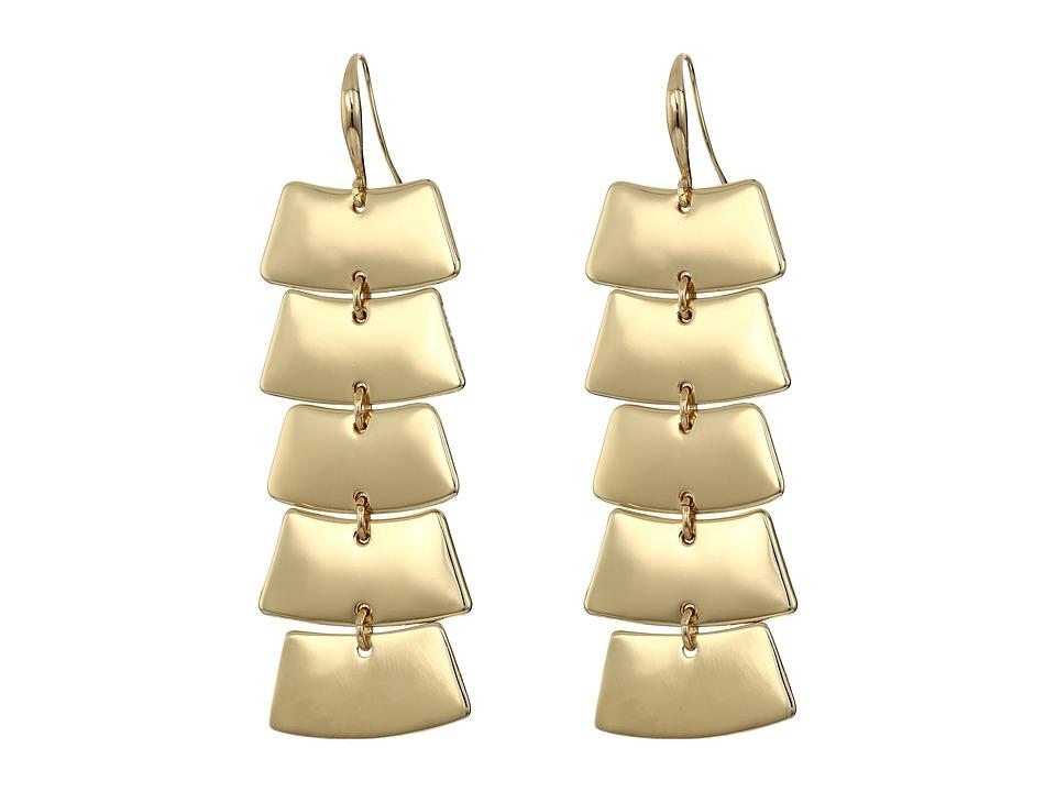 Robert Lee Morris - Gold Shaky Linear Earrings (Shiny Gold) Earring
