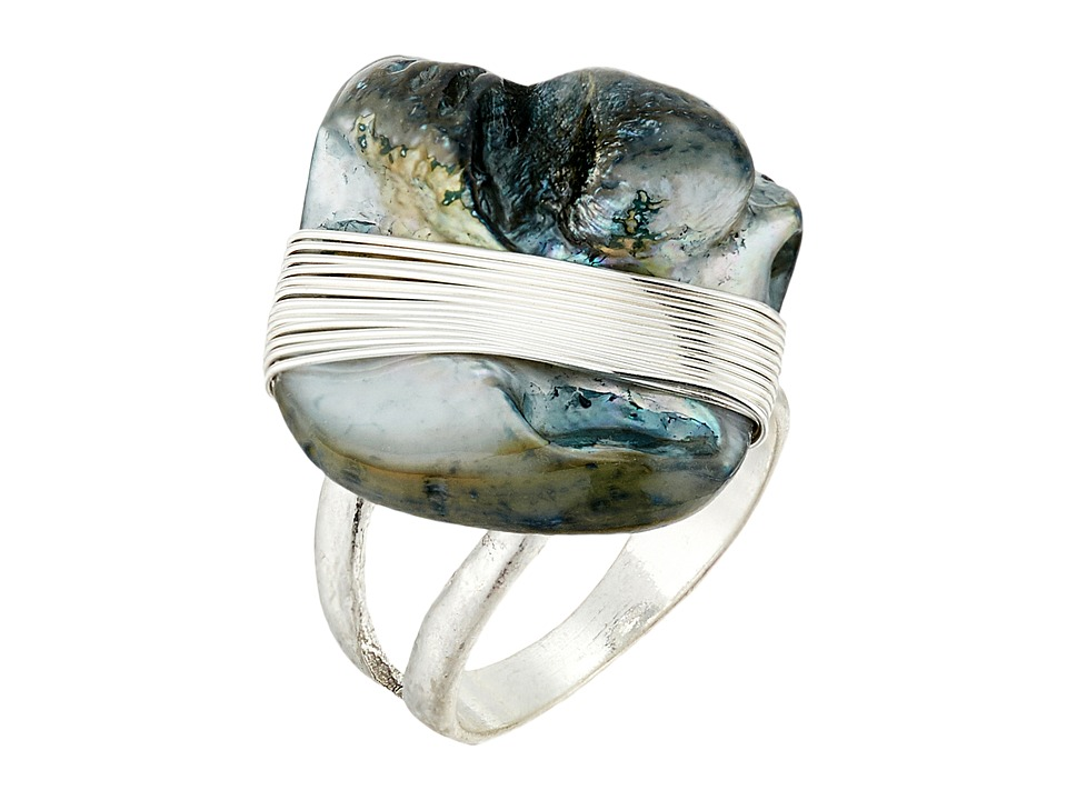 Robert Lee Morris - Blue Shell Cocktail Ring (Blue) Ring