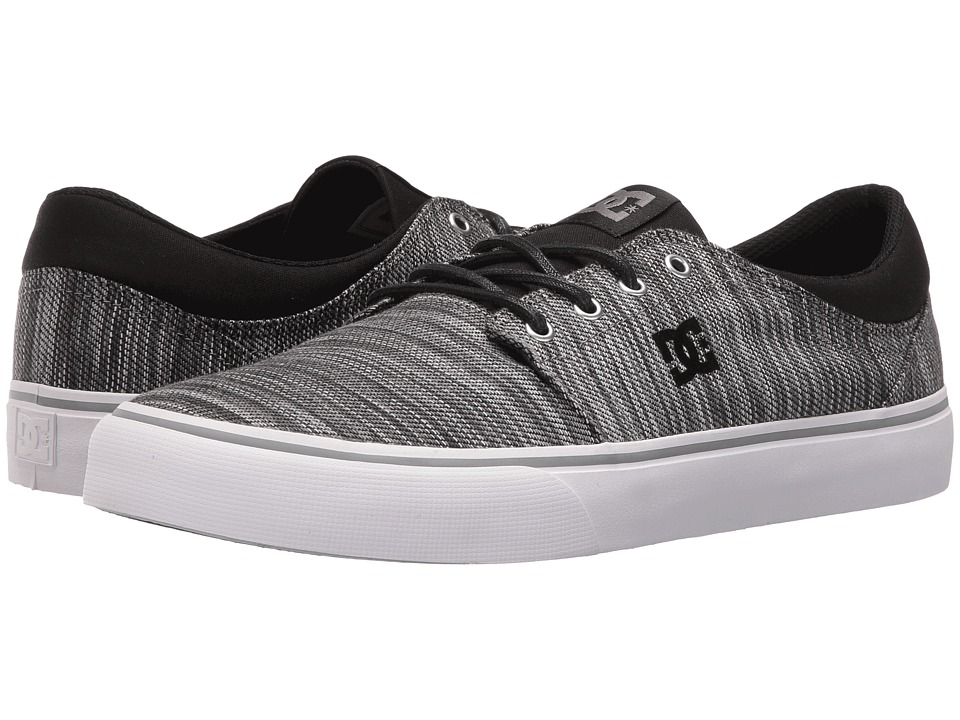 DC Trase TX SE (Black/Grey/Grey) Skate Shoes
