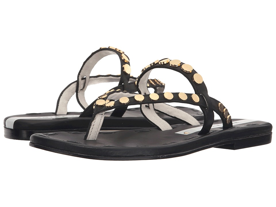 Matt Bernson Love Disc Black/Gold Womens Sandals