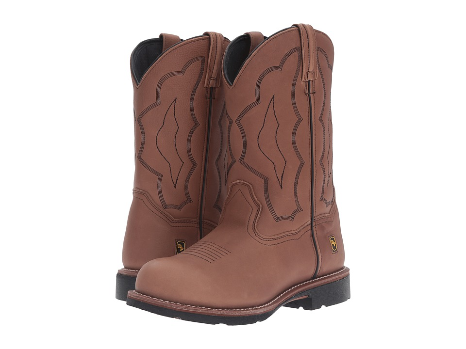 Dan Post Barbed Wire Steel Toe Boot (Walnut) Men's Boots