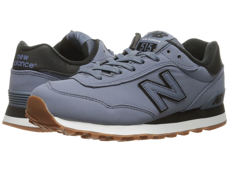 New Balance Classics - WL515 (Blue Rain/Black Synthetic) Womens Classic Shoes