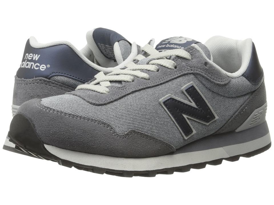 New Balance Classics - WL515 (Grey Suede/Mesh) Womens Classic Shoes