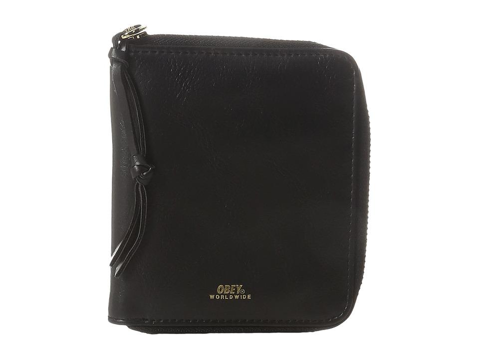 Obey - Gentry II Zip Around Wallet (Black) Wallet Handbags