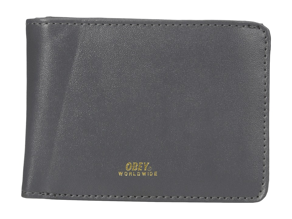 Obey - Gentry Bi-Fold Wallet (Grey) Wallet Handbags