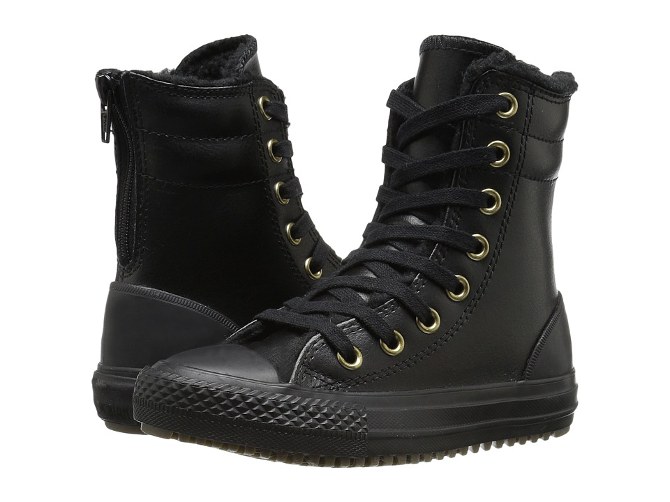 Converse Kids - Chuck Taylor All Star Hi-Rise Boot (Little Kid/Big Kid) (Black/Black/Black) Girls Shoes