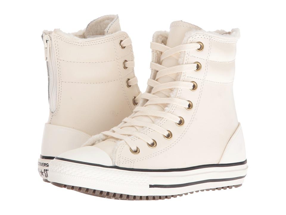 Converse Kids - Chuck Taylor All Star Hi-Rise Boot (Little Kid/Big Kid) (Parchment/Black/Egret) Girls Shoes
