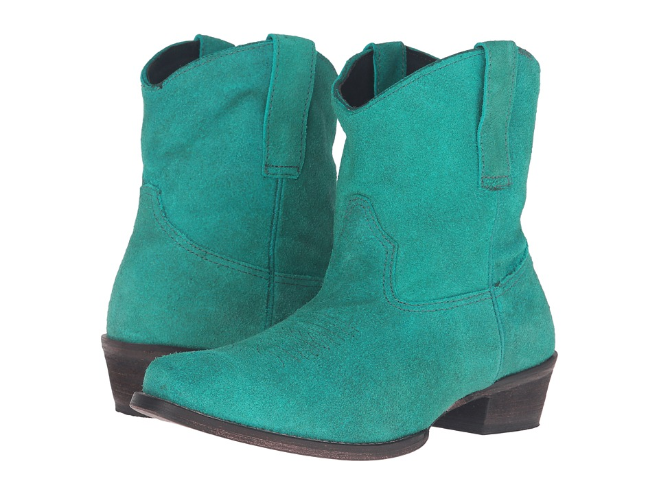 Roper - Shania (Turquoise Suede) Cowboy Boots