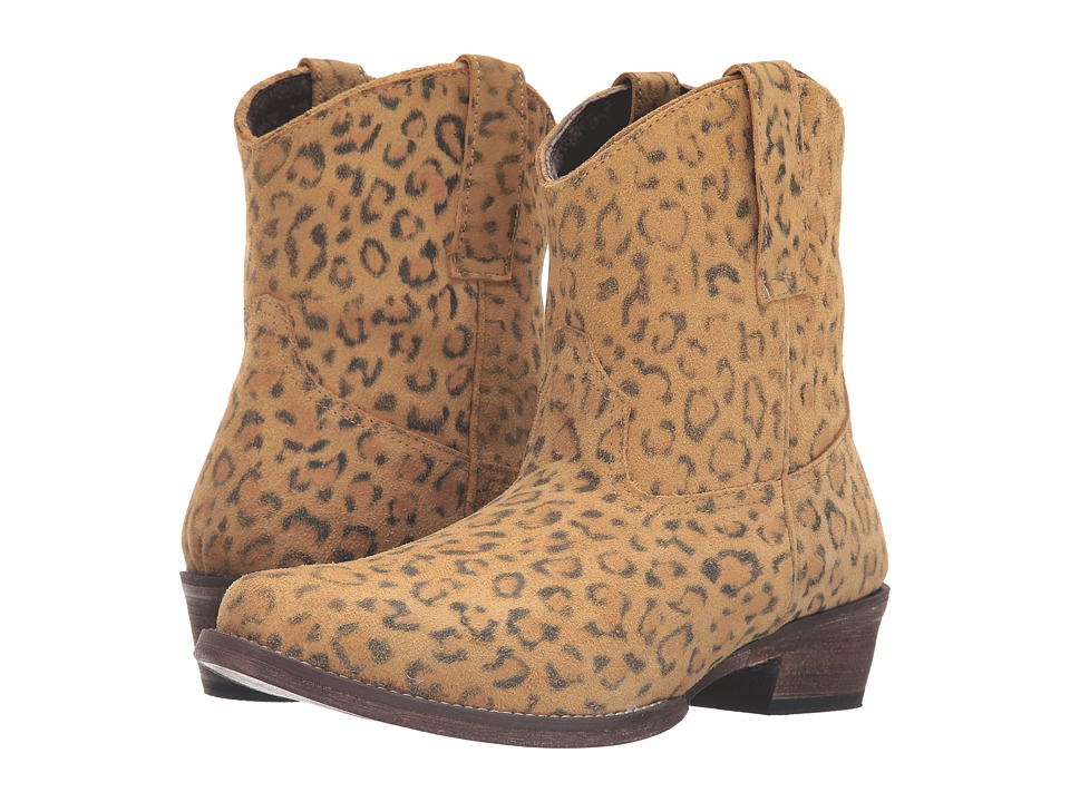 Roper - Cheetah (Tan Cheetah Print Leather) Cowboy Boots