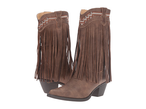 Roper Fringes - Brown Faux Leather