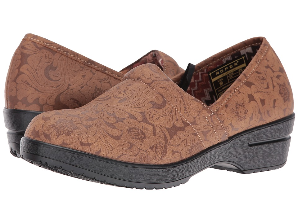 Roper Claire (Tan Faux Leather Embossed) Women