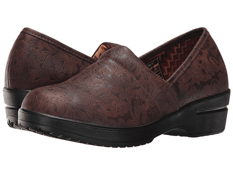 Roper Claire - Brown Faux Leather Embossed