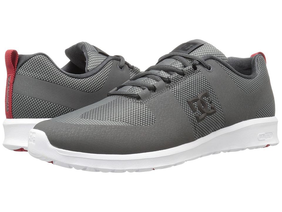 DC Lynx Lite R (Grey/Grey/Red) Skate Shoes