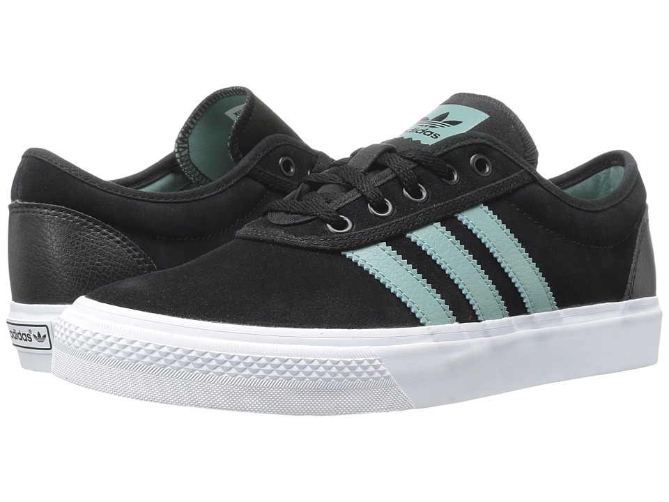 Image of adidas Skateboarding - Adi-Ease (Black/Vapour Steel/White) Men's Skate Shoes