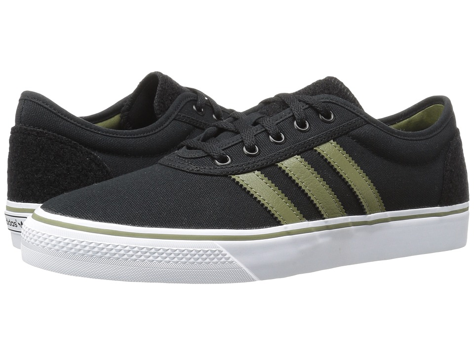 Image of adidas Skateboarding - Adi-Ease (Black/Olive Cargo/White) Men's Skate Shoes