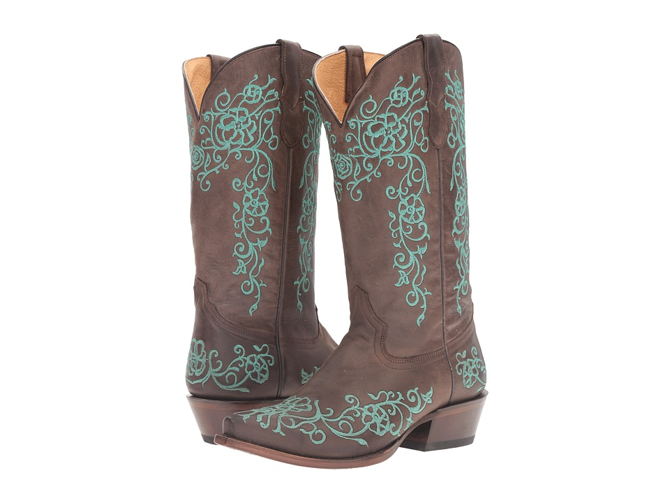 Roper - Bouquet (Brown/Turquoise) Cowboy Boots