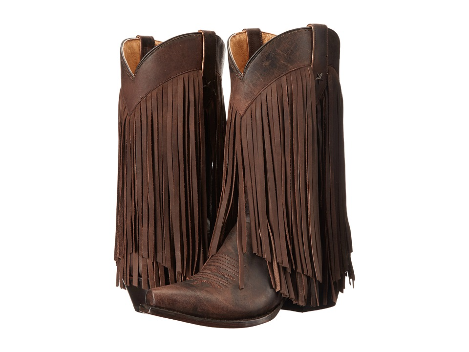 Roper Tall Fringe (Brown Burnished) Cowboy Boots