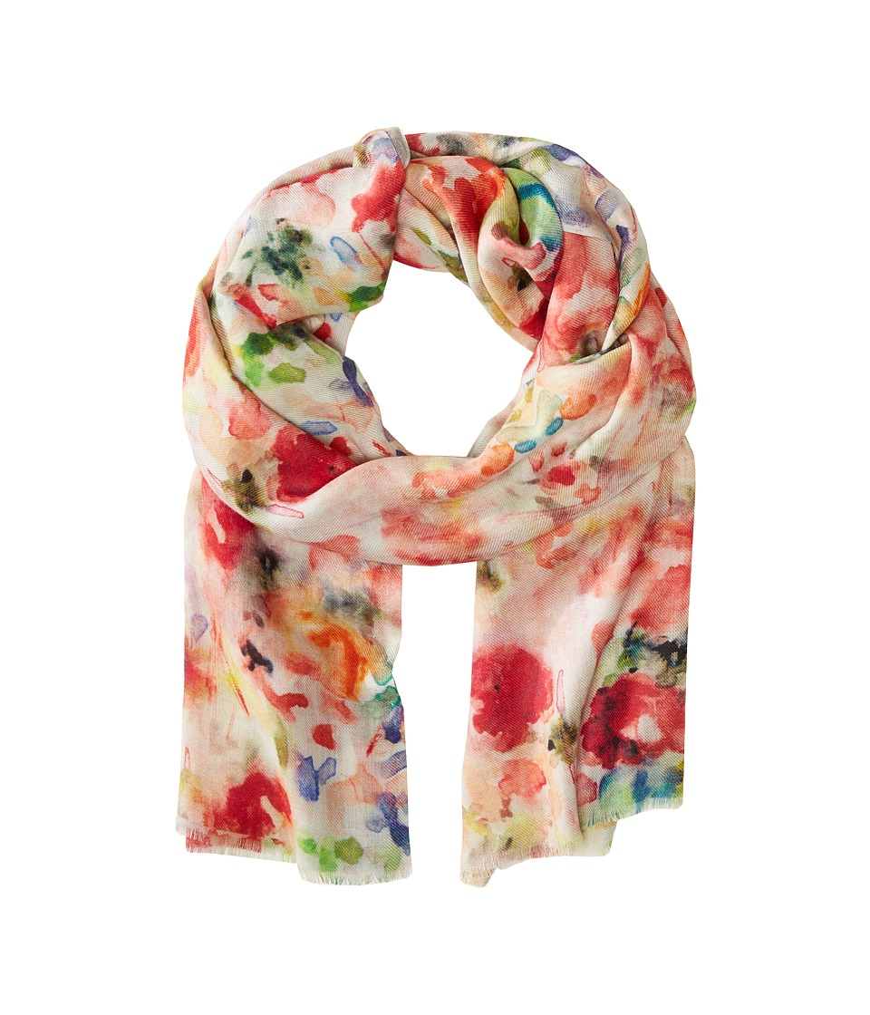 Bindya Flower Gardens Orange Multi Scarves