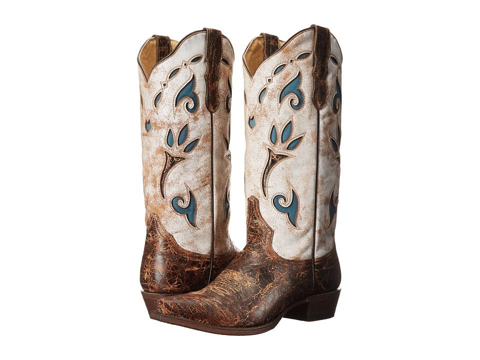 Stetson Arizona (White) Cowboy Boots