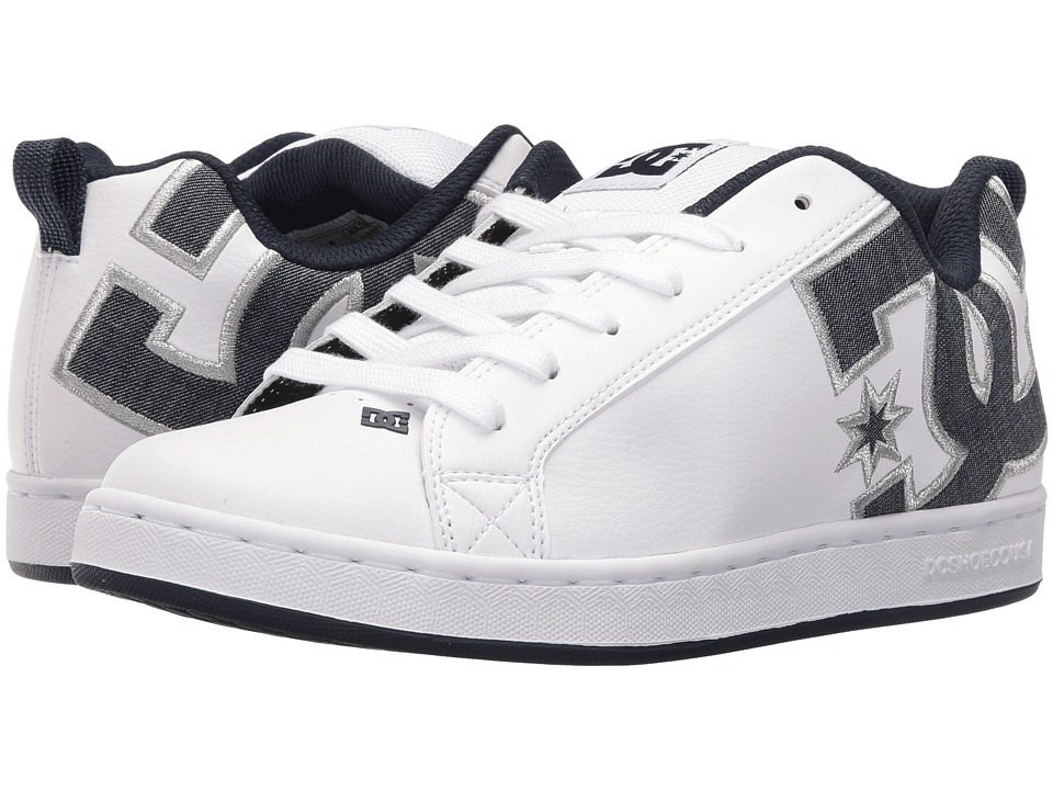 DC - Court Graffik SE W (Denim) Womens Skate Shoes