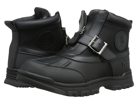 Polo Ralph Lauren Kids Colbey Mid Zip (Big Kid) - Black Tumbled