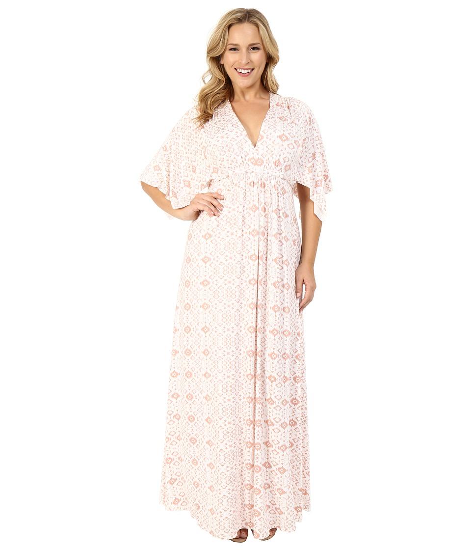 Rachel Pally Plus Plus Size Long Caftan Dress Dusty Medallion Womens Dress