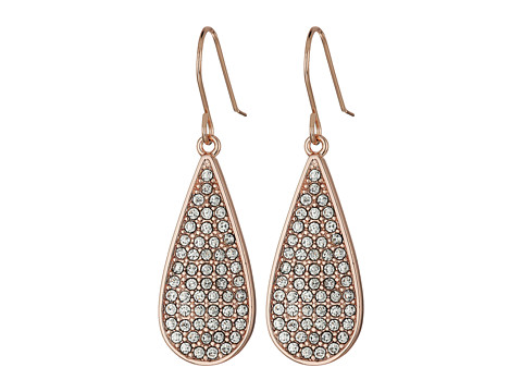 LAUREN Ralph Lauren Rose Palais Small Pave Teardrop Earrings - Crystal/Rose Gold