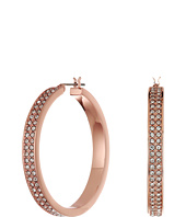 LAUREN Ralph Lauren - Rose Palais Large Pave Hoop Earrings