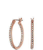 LAUREN Ralph Lauren - Rose Palais Small Oval Pave Hoop Earrings