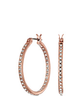 LAUREN Ralph Lauren - Rose Palais Small Round Pave Hoop Earrings