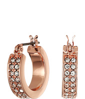 LAUREN Ralph Lauren - Rose Palais Small Pave Hoop Earrings