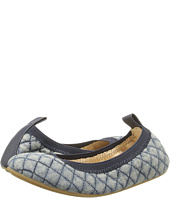 Yosi Samra Kids - Sammie Quilted Denim/Alsina Leather Flat (Toddler/Little Kid/Big Kid)