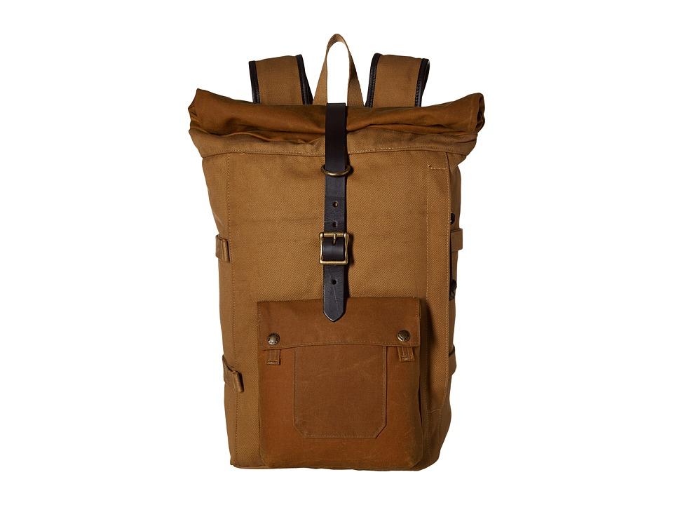 Filson Roll Top Backpack (Tan) Backpack Bags