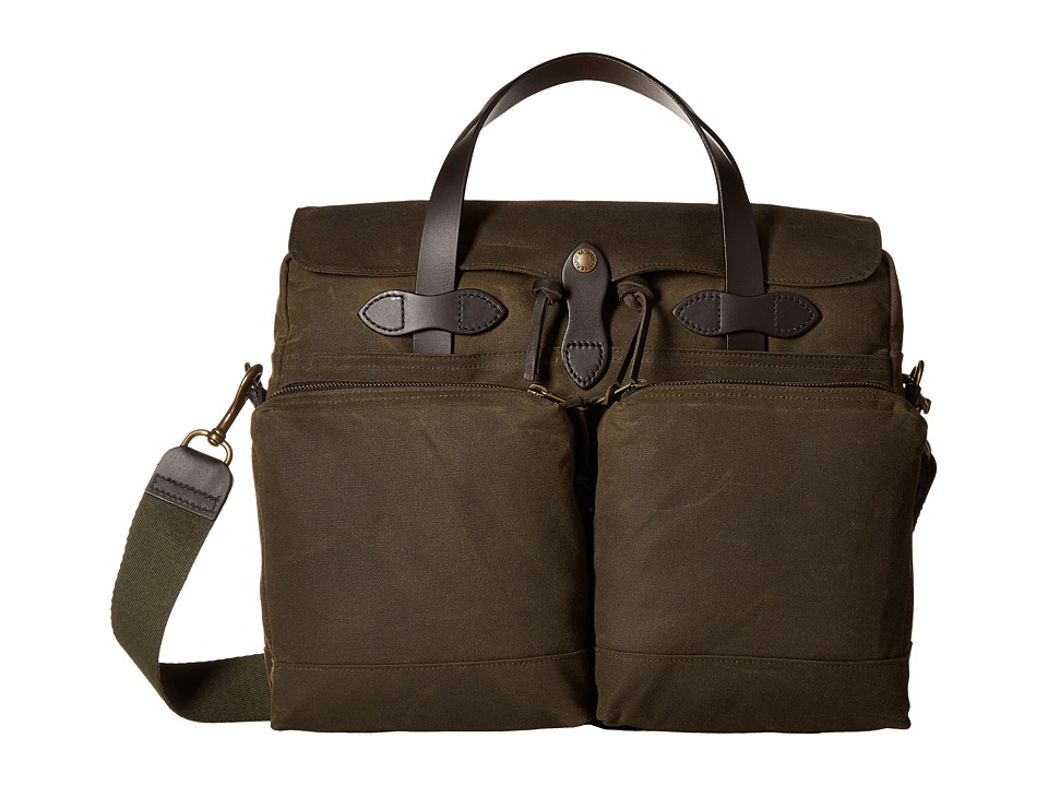 Filson - 24 Hour Tin Briefcase (Otter Green) Briefcase Bags