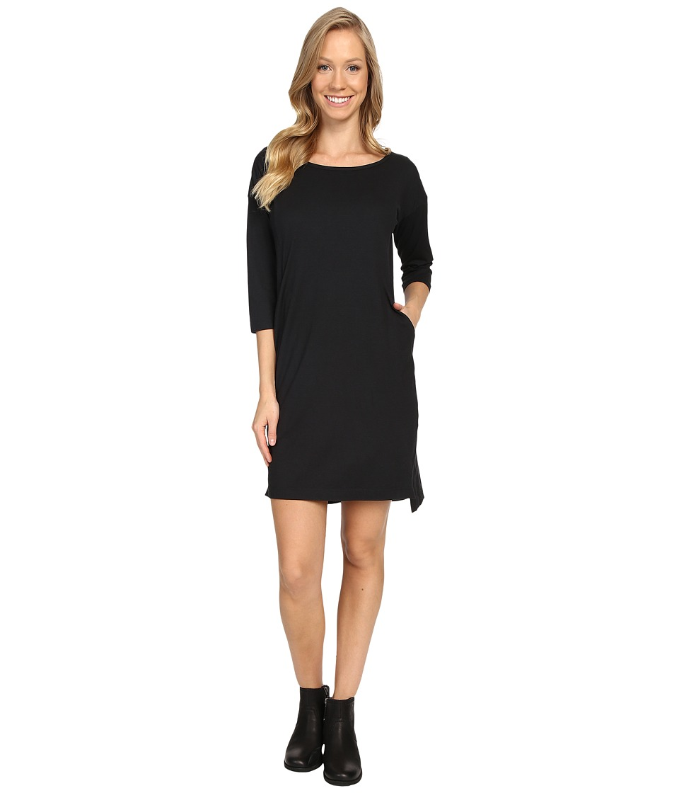 NAU - Repose Scoop Neck Dress (Caviar) Womens Dress