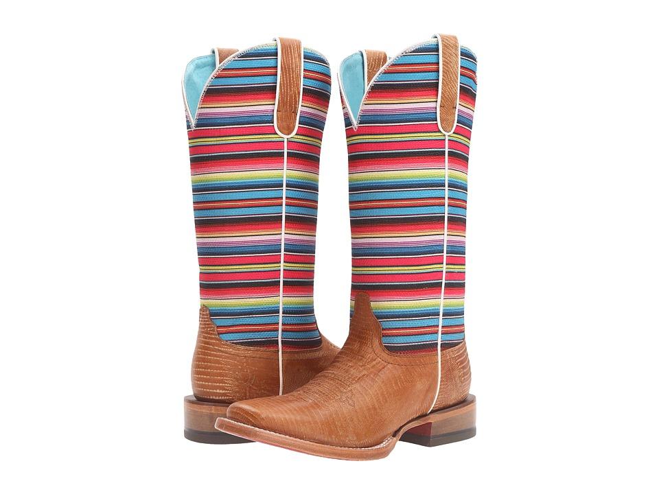 Ariat Gringa (Natural Lizard Print/Pink Serape) Cowboy Boots