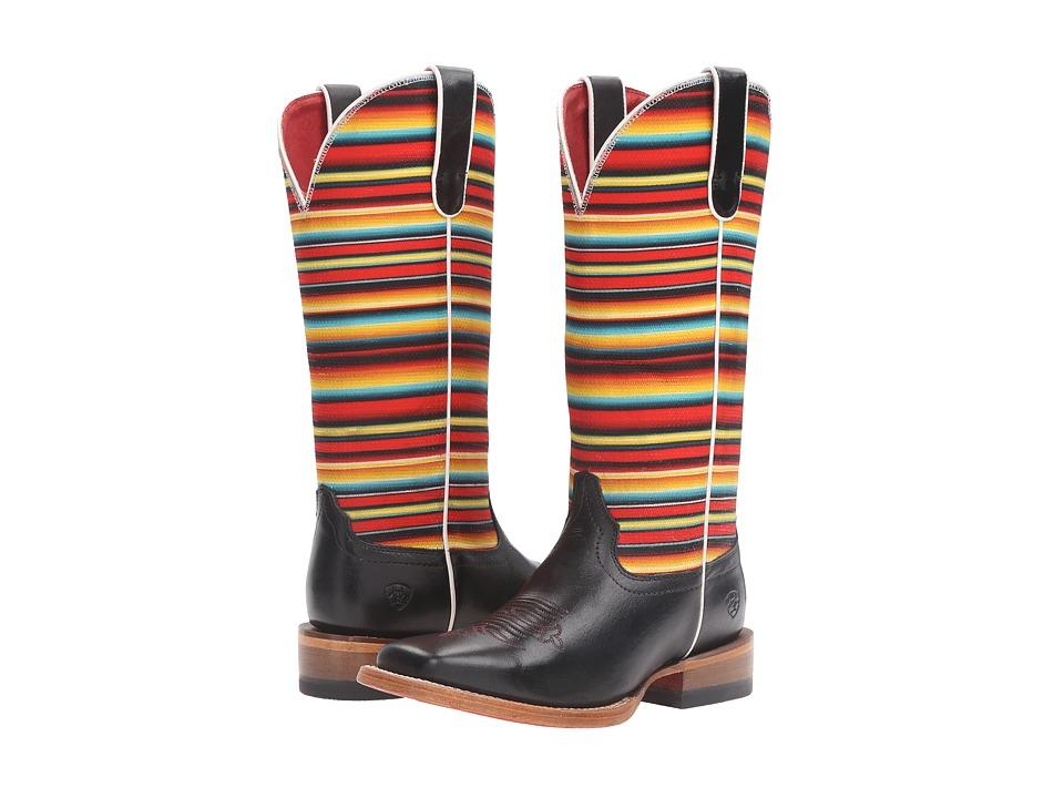Ariat - Gringa (Raven Black/Red Serape) Cowboy Boots