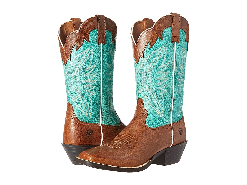 Ariat Round Up Outfitter (Wood/Latigo Bay) Cowboy Boots