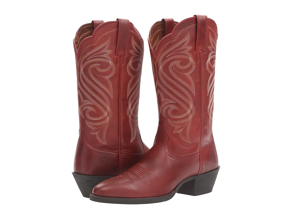 Ariat Round Up R Toe (Warrior Red) Cowboy Boots
