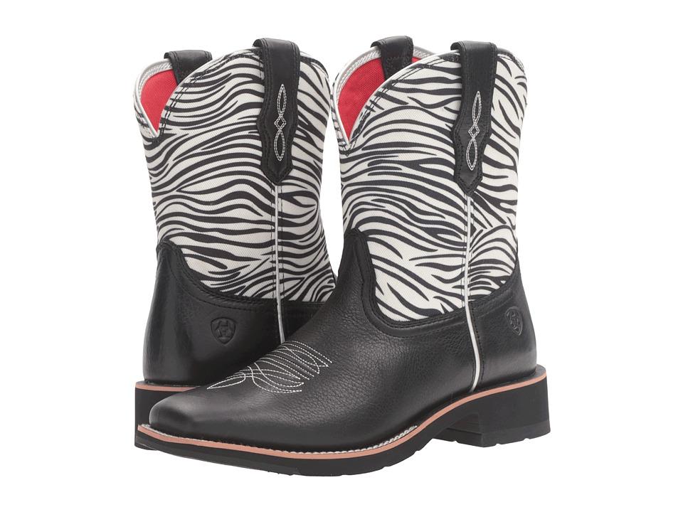 Ariat Rosie (Zebra Print/Black) Cowboy Boots