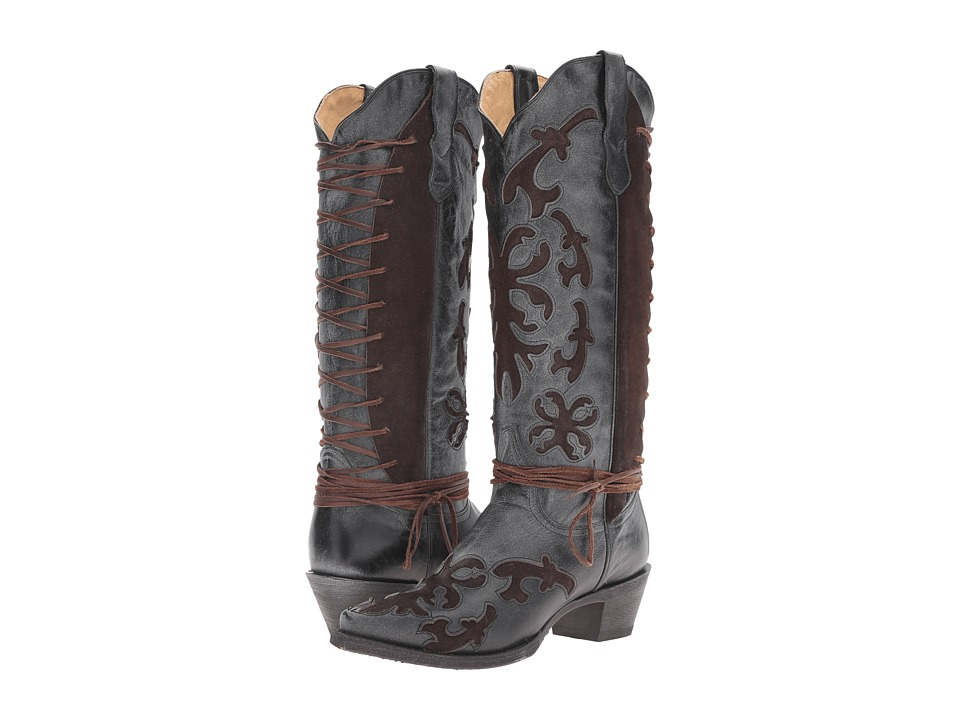 Stetson Ande (Black) Cowboy Boots