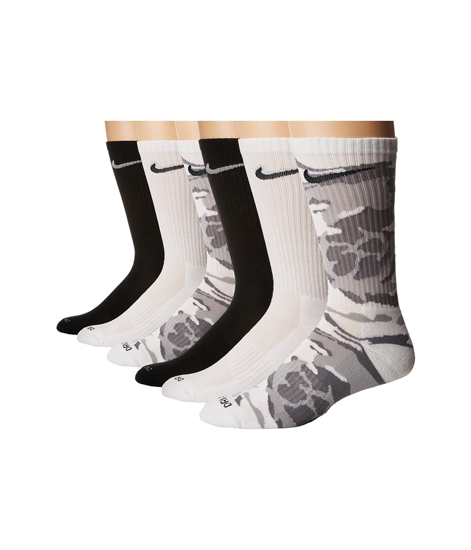Nike Dri-FIT Cushion Socks 6-Pair (Multicolor) Men's Crew Cut Socks Shoes