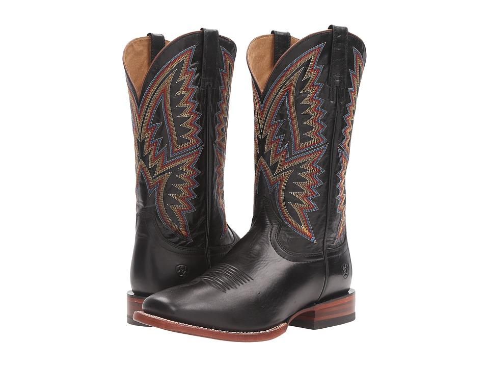 Ariat Hesston (Midnight Black/Black) Cowboy Boots